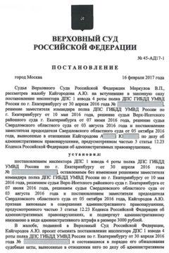 Постановление Верховного суда Российской Федерации № 45-АД17-1 от 16 февраля 2017 г., г. Москва