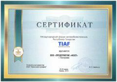 Международный форум автомобилестроения  Tatarstan International Automotive Forum TIAF supported by Automechanika